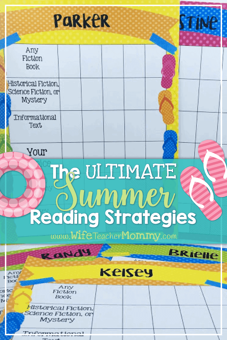 Need to encourage reading over the summer? These summer reading strategies are perfect for motivating children to read all summer long! Perfect for both teachers and parents!