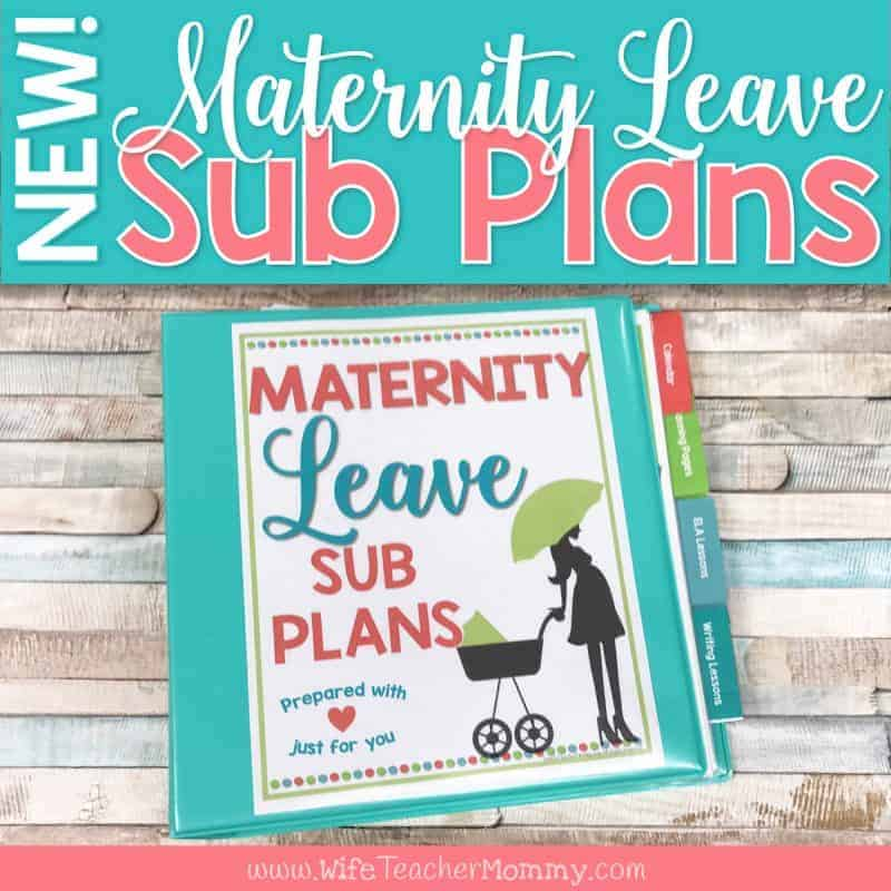 Sub plans maternity leave