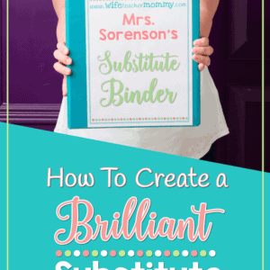 How to create a brilliant substitute binder. This sub binder is perfect for elementary teachers!