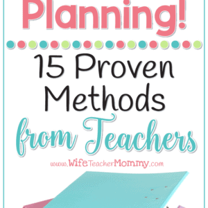 Save time planning as a teacher! These time hacks will help you be more productive in less time. The best part is these tips come from a wide variety of teachers just like you! Teacher productivity, teacher planning, teacher work/life balance.