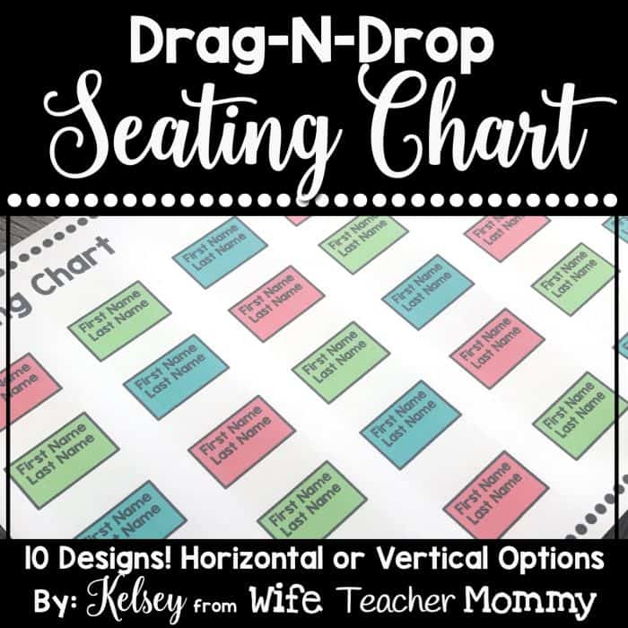 These editable seating charts are so easy! Just drag and drop. They are so cute as well!