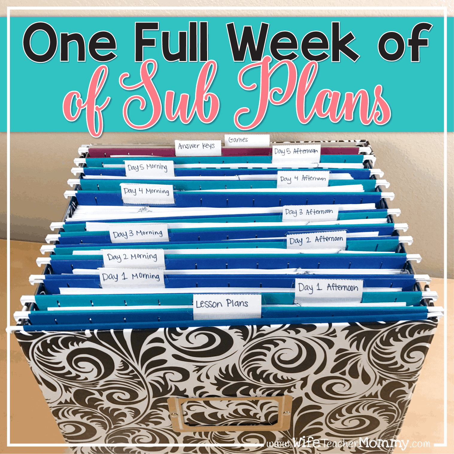 You could win a FULL WEEK of sub plans and more with the #WinMySubStuff giveaway!