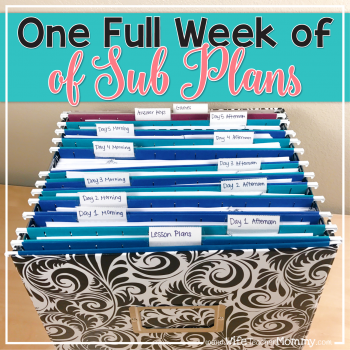 Be prepared with an entire week of sub plans that are no prep and ready to go! These are perfect for emergency sub plans. Lesson plans, activities, and more are included!