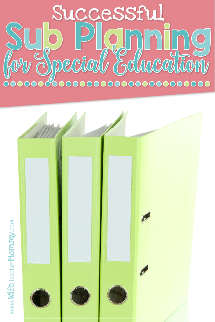 Sub Planning for Special Education
