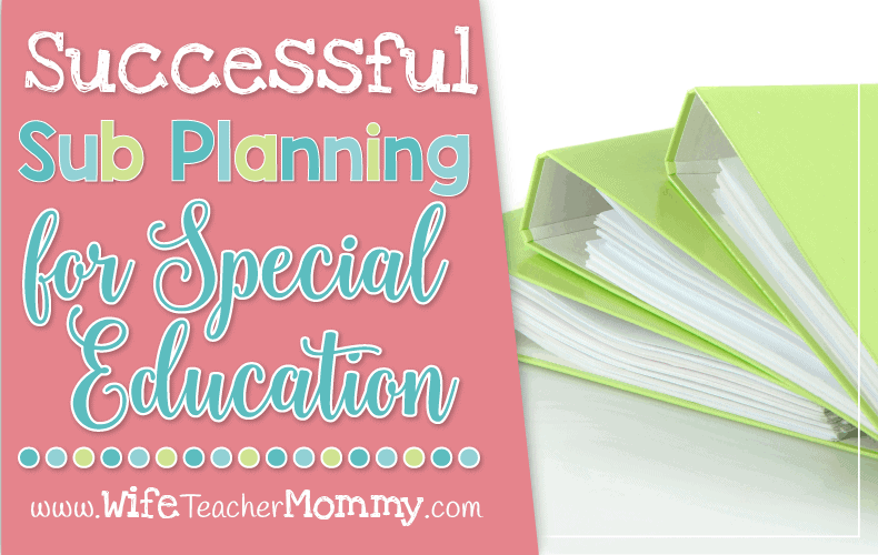Sub Planning Special Education Header