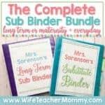 The Complete Short & Long Term Sub Binder Bundle (EDITABLE)