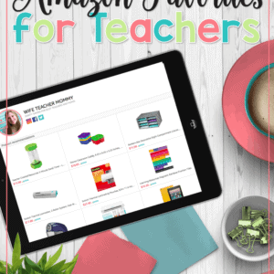 Looking for the BEST teacher stuff on Amazon? Look no further! Teacher supplies, classroom organization tools, and more can be found right here.