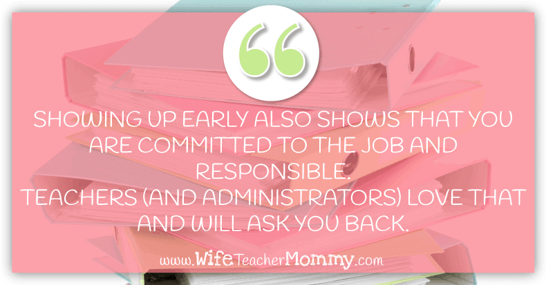 Showing up early for your substitute teacher job is a great way to be a requested substitute teacher. Check out more substitute teaching tips in this post!