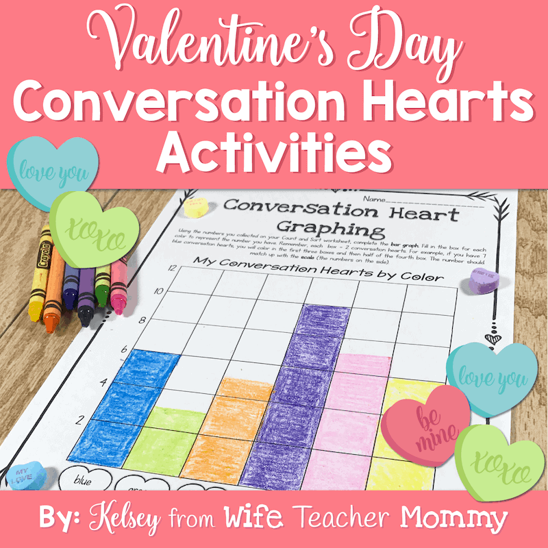 These Valentine's Day conversation heart activities are so much fun and educational!