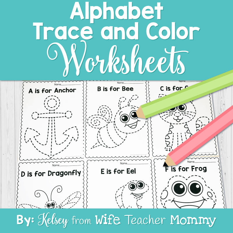 These alphabet worksheets are perfect for preschool, kindergarten and 1st grade!