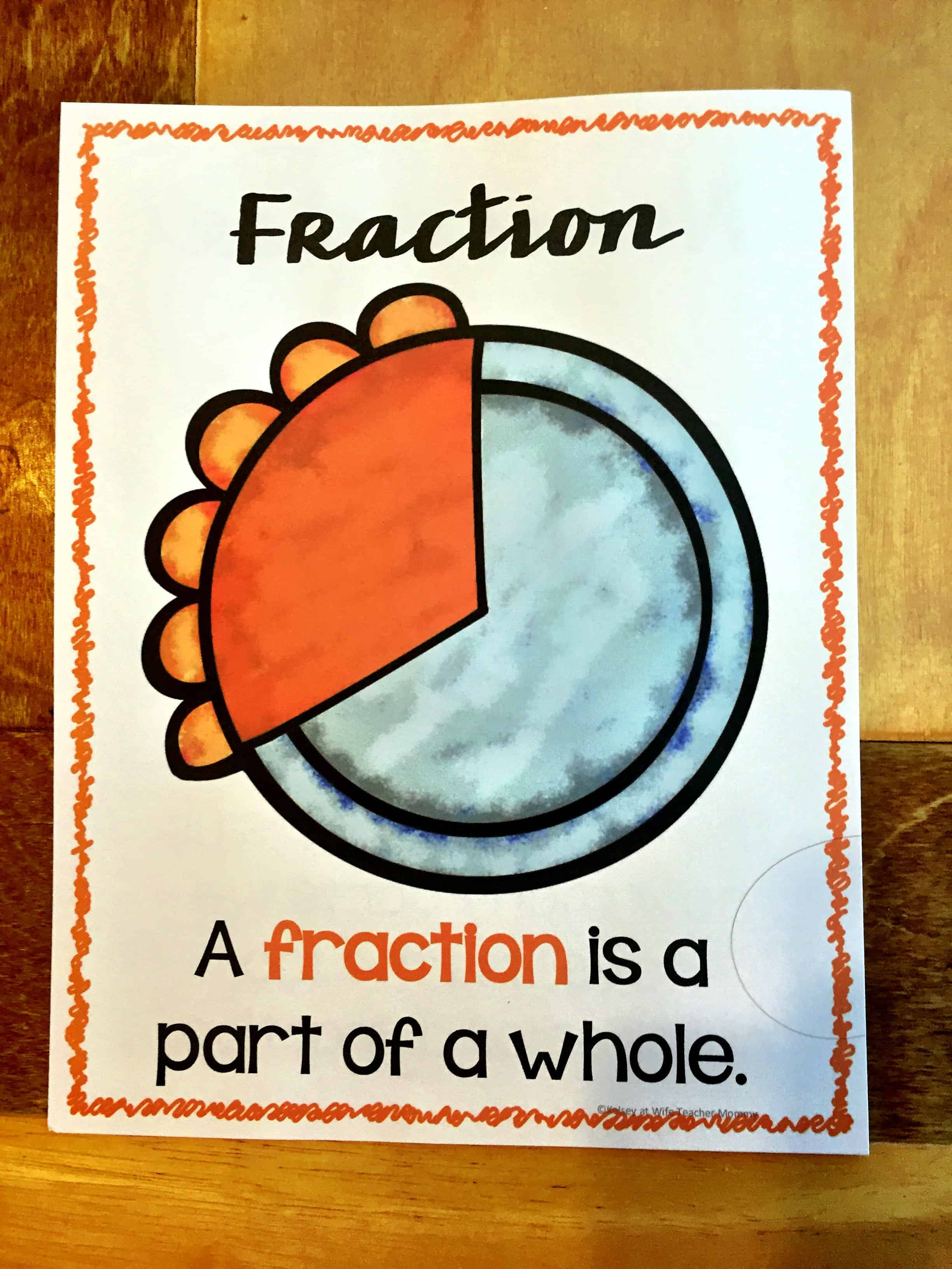 Fractions are Easy as Pie Worksheets - Wife Teacher Mommy