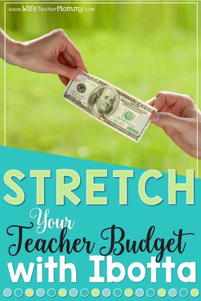 Want to stretch your teacher budget? Ibotta will help you save money on groceries and more, so you can take your teacher budget further and keep more money in your pocket. #teacherbudget #teacherlife