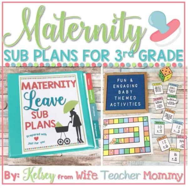 maternity leave sub plans 3rd grade