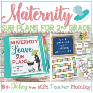 2nd grade maternity leave sub plans