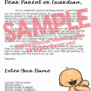 Letter For Maternity Leave from www.wifeteachermommy.com