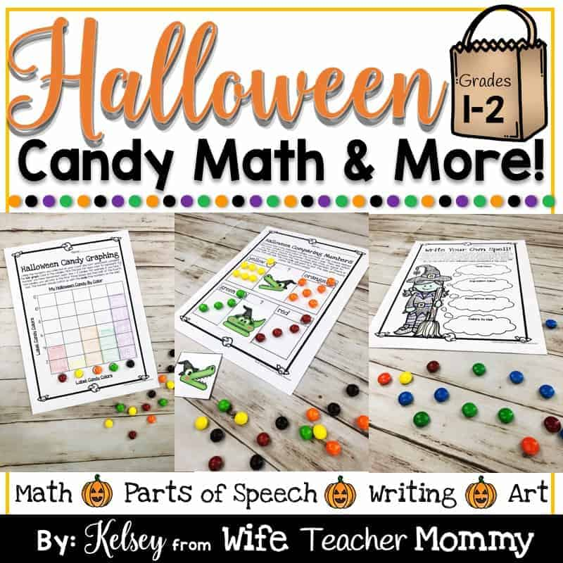 Halloween Candy Math Activities & More For 1st And 2nd Grade - Wife Teacher  Mommy