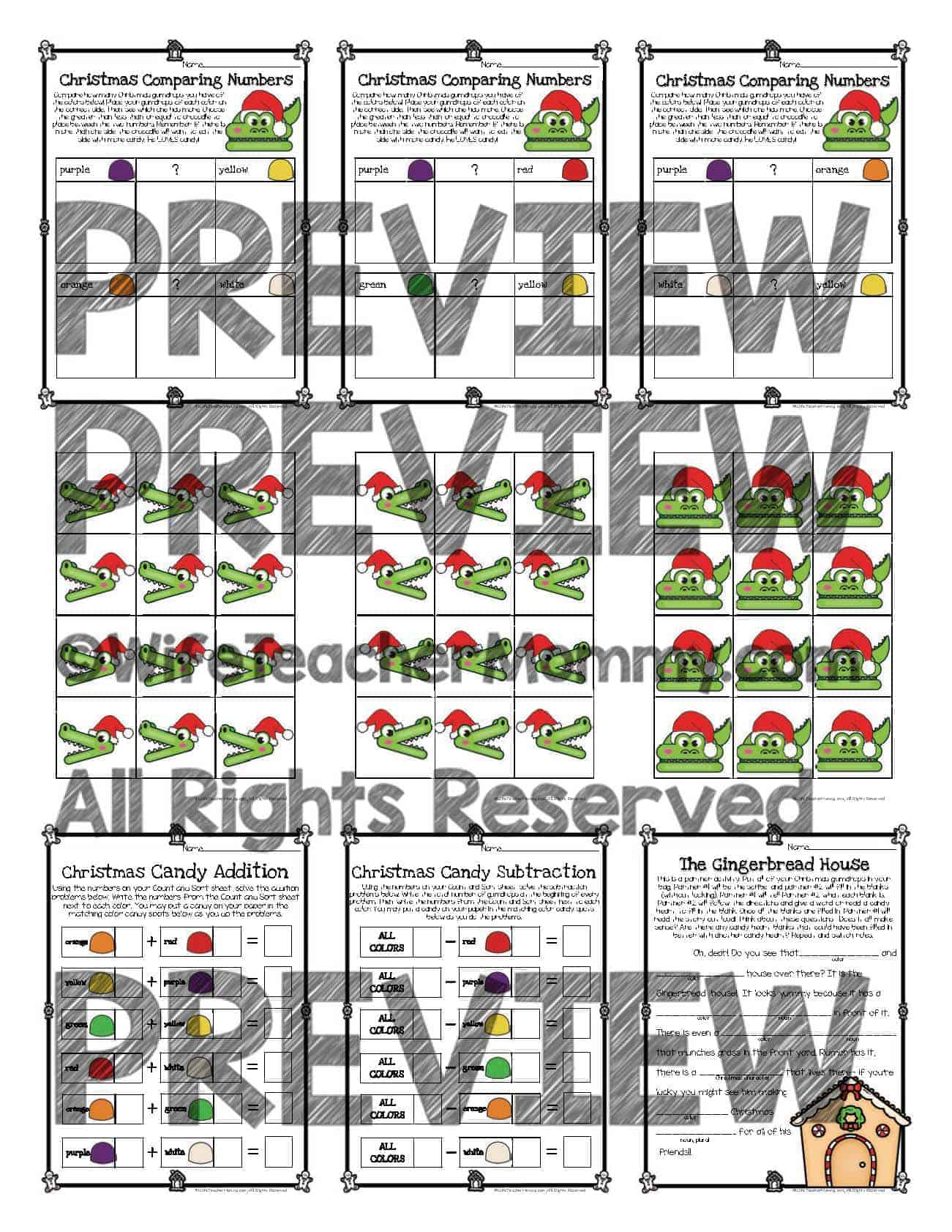Christmas Gumdrop Math Activities More For 1st And 2nd Grade