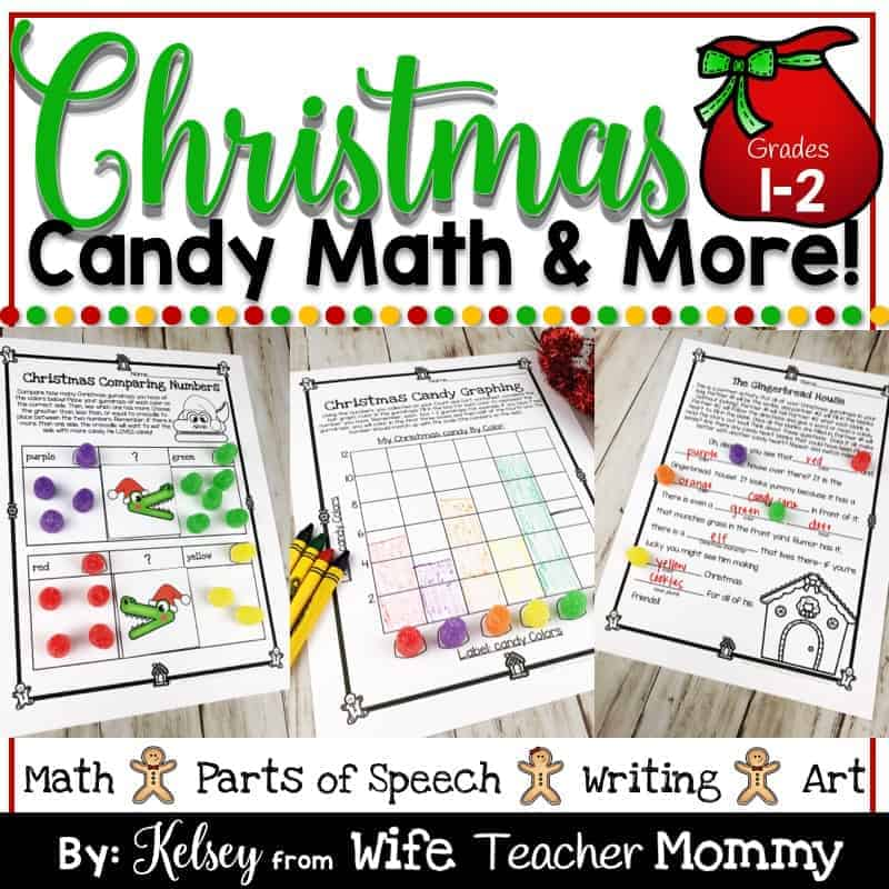 Christmas Gumdrop Math Activities & More For 1st And 2nd Grade - Wife  Teacher Mommy