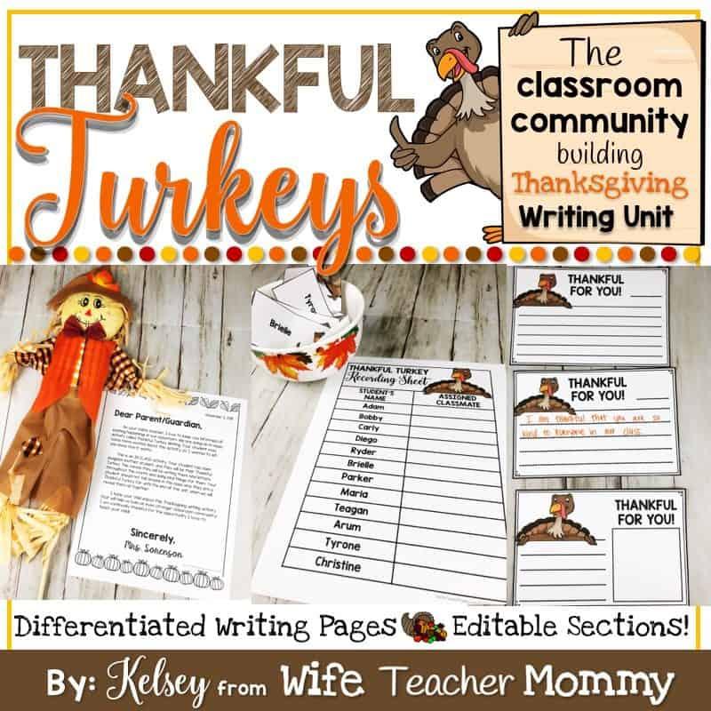 Thankful Turkey Writing Unit