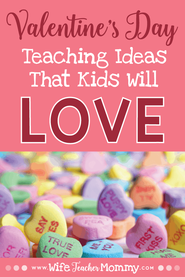 These valentine's day teaching ideas include fun and engaging Valentine's Day teaching activities. These include candy heart math, conversation heart activities, Valentine's Day crafts for kids, Valentine's day worksheets, February sub plans, and more! Low prep and no prep Valentine's Day teaching ideas included for elementary grades. Also contains great homeschool ideas! Kindergarten, 1st grade, 2nd grade, 3rd grade, 4th grade, and 5th grade. #wifeteachermommy #teachersfollowteachers #teaching