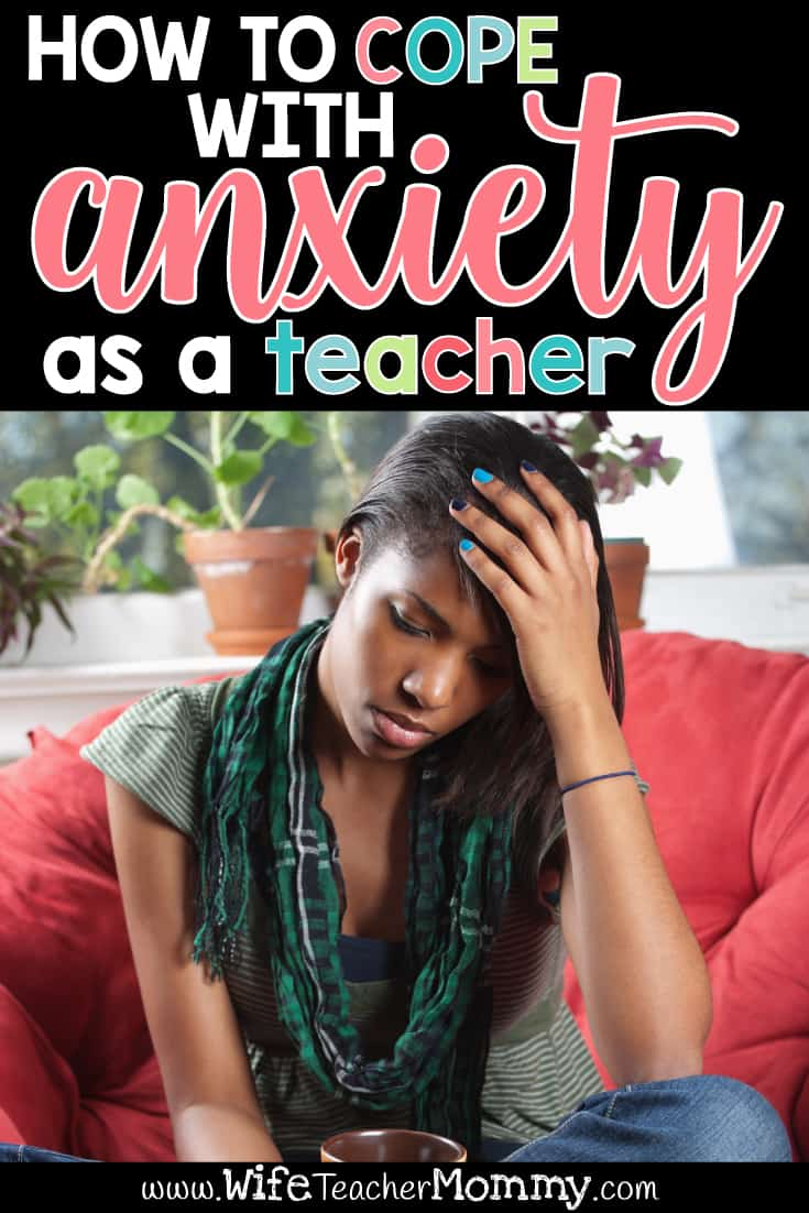 Do you suffer with anxiety as a teacher? Teacher anxiety is at an all-time high, with the demands on teachers ever-increasing. It's important to find how to cope with anxiety as a teacher. Mindfulness and self care tips are given in the post as well as tips to avoid teacher burnout and comparing yourself to other teachers. Here are some tips to help alleviate anxiety in the high stress job of teaching. Teacher self care tips. #teacherblog #teacherburnout