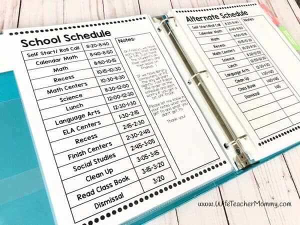 Having a sub binder is an important step in your emergency sub plans. Include a school schedule, classroom management info, and more in your binder. Free sub binder sample included in this post!
