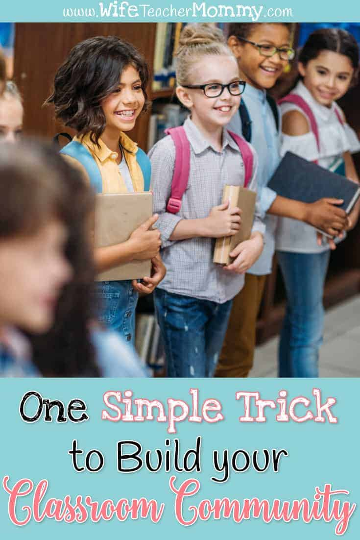 Teachers will LOVE this one simple trick to build your classroom community. These classroom community building activities will work for your kindergarten, 1st, 2nd, 3rd, 4th, 5th, 6th, grade classroom! Great for the primary classroom and upper elementary as well as special education. These lessons will help yours students create a classroom community and build their writing skills, too. The activities are fun and engaging writing lessons. A great classroom management idea and strategy!