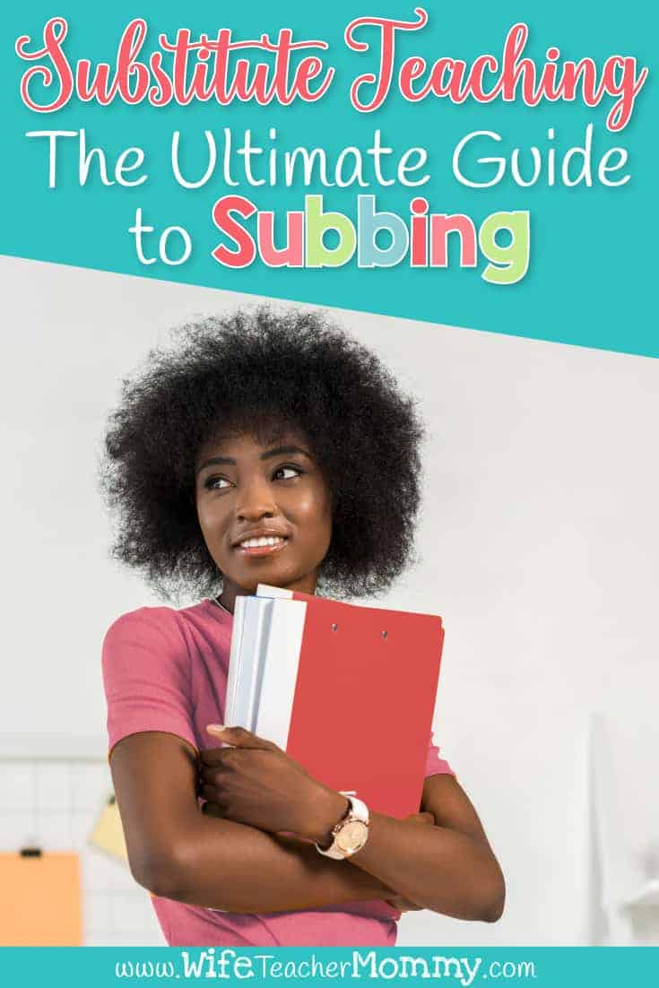 Are you a substitute teacher looking for substitute teaching ideas? Check out our ultimate guide to subbing! These substitute teaching tips will help you be a prepared substitute teacher in an elementary setting. Includes classroom management ideas for subs, free printables you can use, games and activities, and more! Great for guest teachers in kindergarten, 1st, 2nd, 3rd, 4th, 5th, and 6th grades. Ideas for substitute teacher outfits and clothes. Being a substitute teacher tips post.