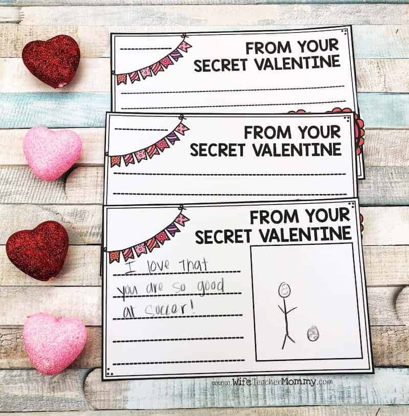 This classroom community building activity for February is a lot of fun! Students will love secret valentine writing. It is a great way to promote kindness in the classroom. New secret student activities are available for every month!