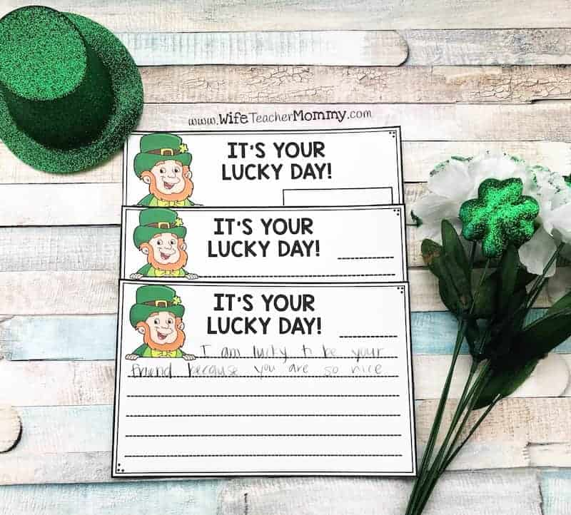 Sneaky leprechaun writing is such a fun classroom community building activity! It is a great way to promote kindness in your classroom while students build their writing skills with writing prompts.