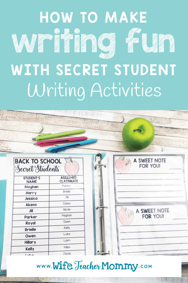 Looking for writing tips for kids? Learn how to make writing fun with secret student writing activities! These include fun and engaging writing prompts that will get your students excited to write in your classroom or homeschool. These elementary writing ideas are great for morning work & writer's workshop. Great for 1st 2nd, 3rd, 4th, 5th, and 6th grade and homeschoolers learning while having fun. Includes lessons and can help students improve writing skills common core #teachersfollowteachers