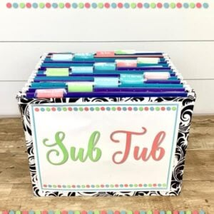 Sub Plans & Sub Binders