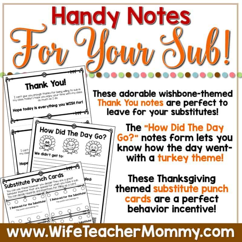 PreK Handy Notes November