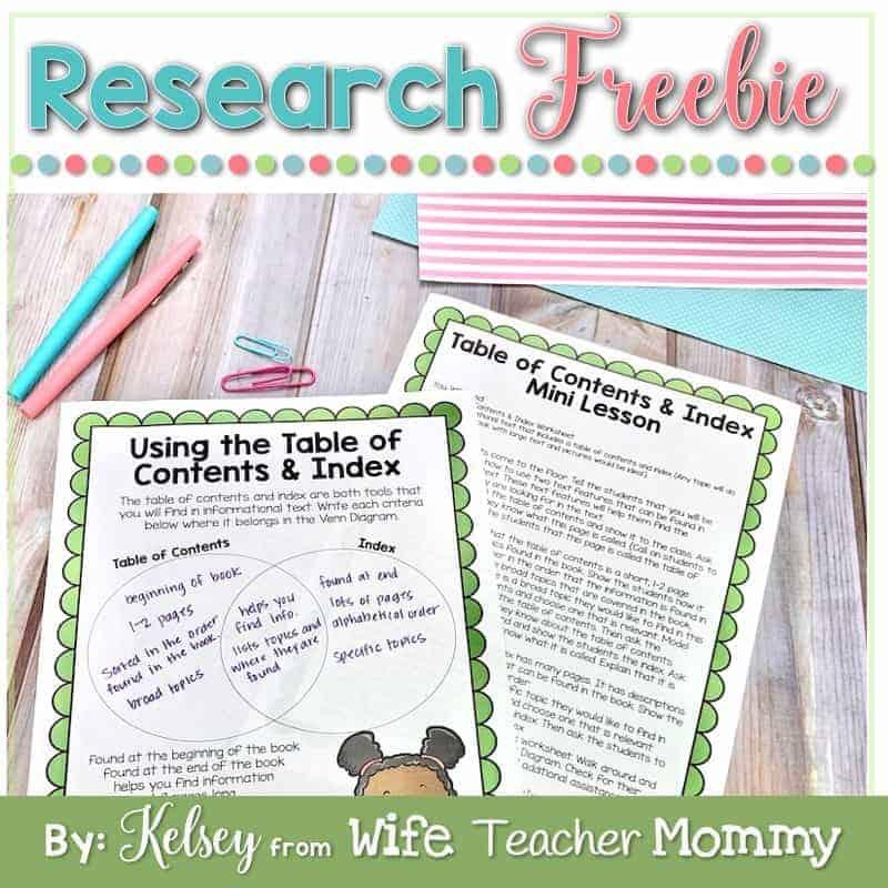 Research Unit Freebie