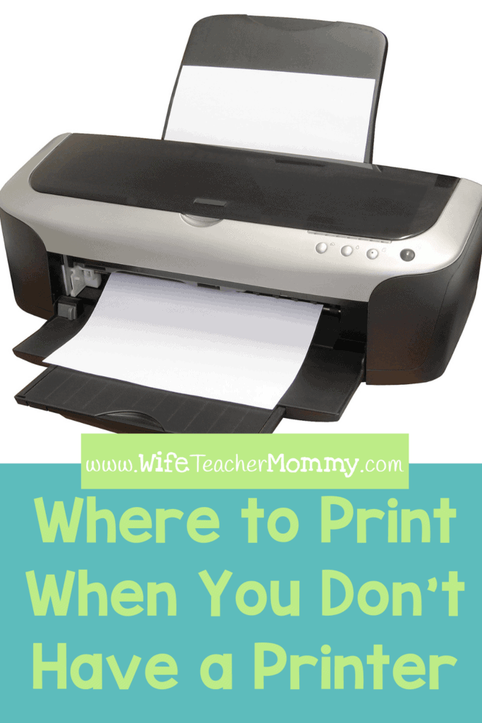 Where to print worksheets without a printer at home.