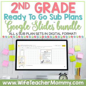 2nd Grade Sub Plans Google Bundle