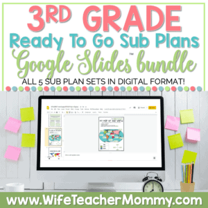 3rd Grade Ready To Go Sub Plans Google Bundle