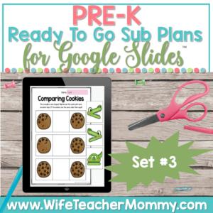 PreK Sub Plans Set 3 Google