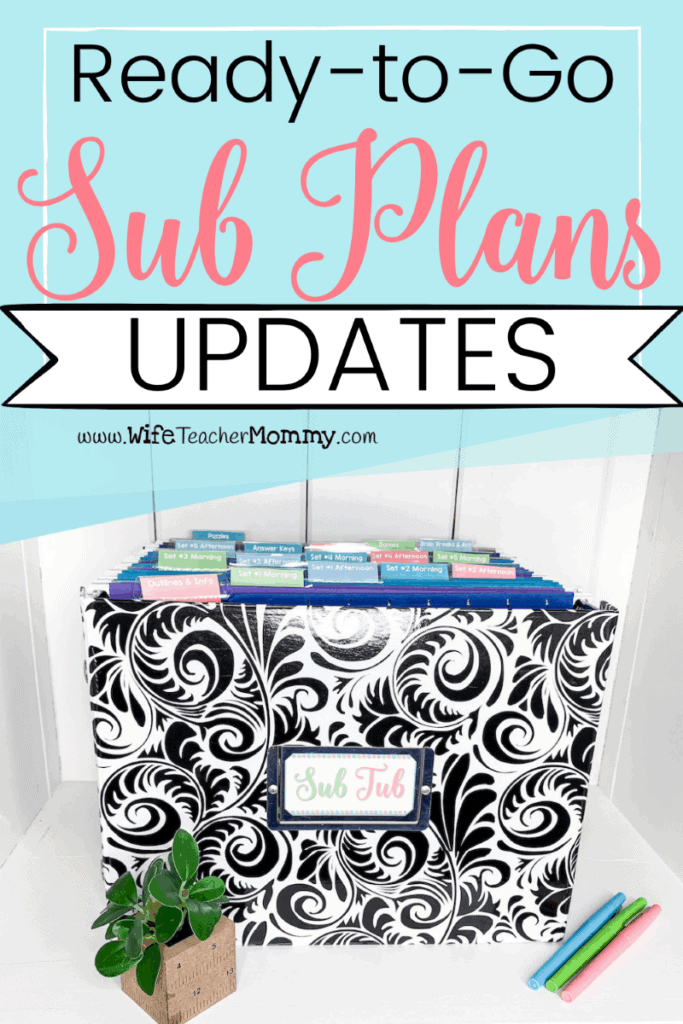Our Ready to Go Sub Plans are now updates with more activities and digital everything!