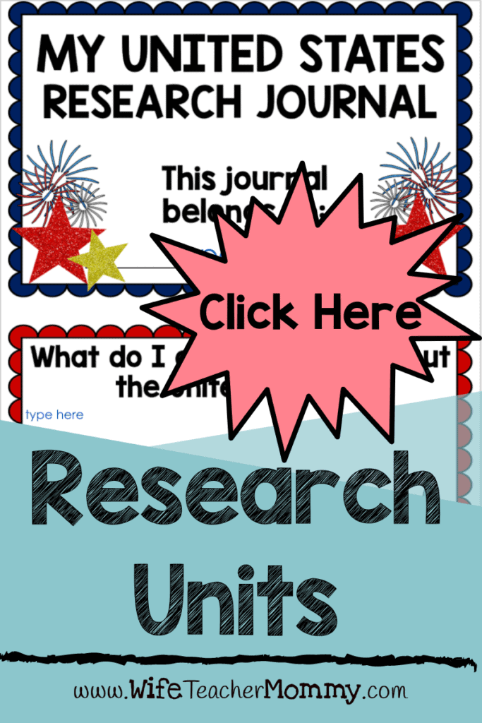 My United States research journal, research units