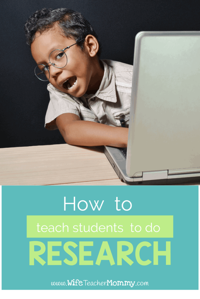 teach students to do research, a boy at the computer