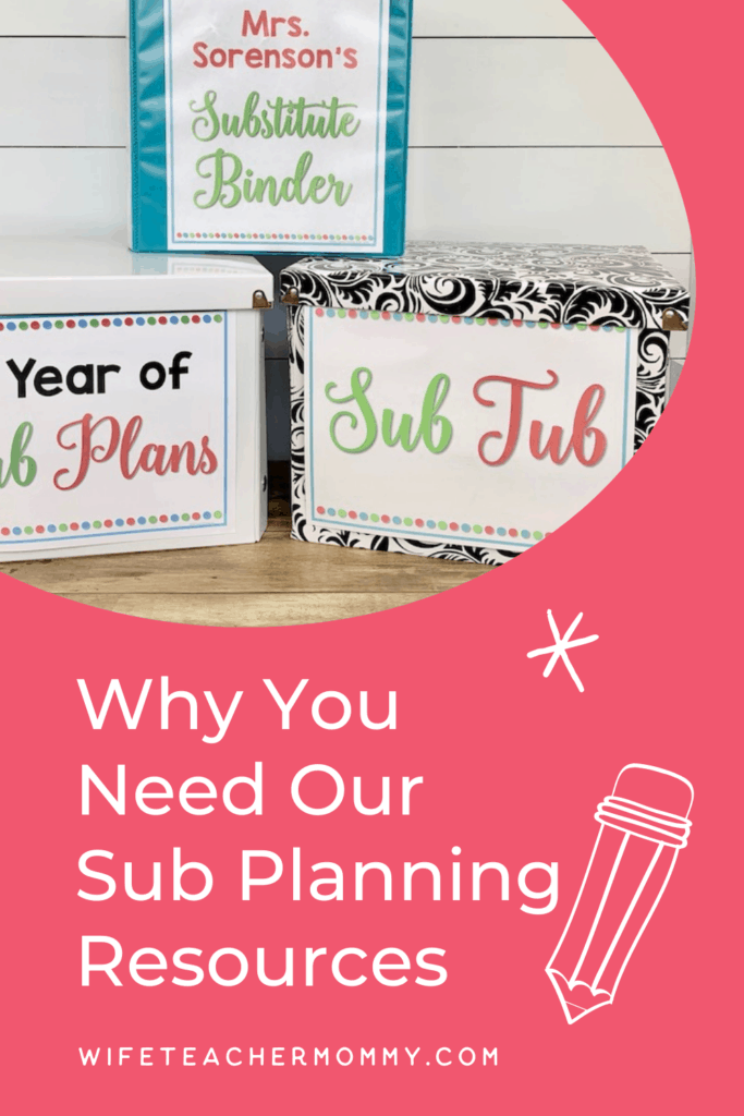 Wife Teacher Mommy Sub Planning Resources