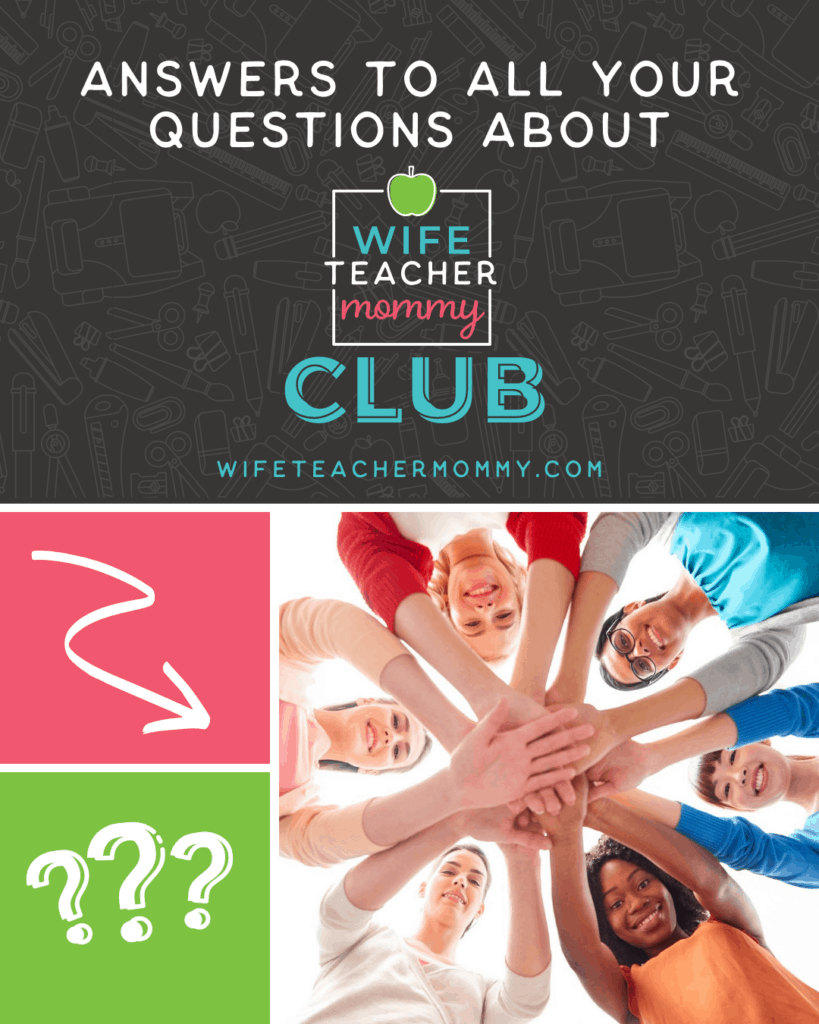 Women in a circle with hands together. Answers to all your questions about Wife Teacher Mommy Club