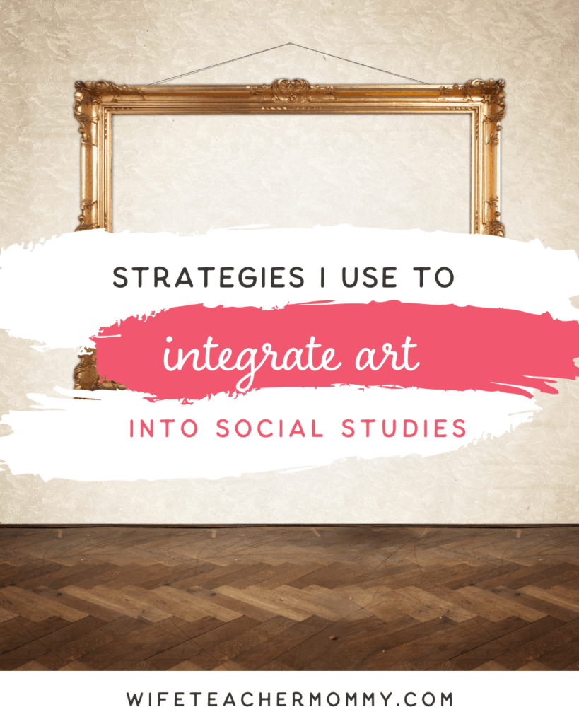 Blank painting on wall for Strategies I Use for Integrating Art Into Social Studies